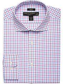 Pronto Uomo Pink & Blue Check Slim Fit Dress Shirt