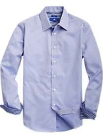 Egara Slate Blue Basketweave Sport Shirt