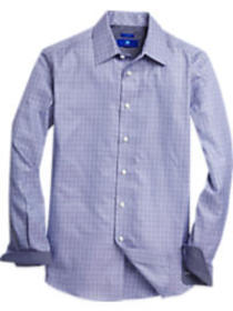 Egara Blue & Gray Check Sport Shirt