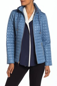 kate spade new york Quilted Packable Hood Moto Jac