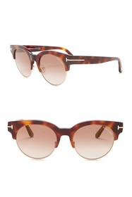 Tom Ford Round Sunglasses 52mm