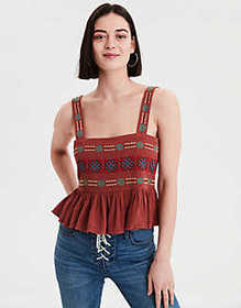 American Eagle AE Embroidered Tank Top