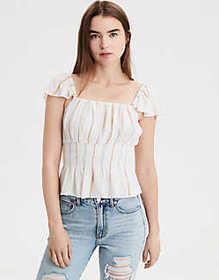 American Eagle AE Flutter Sleeve Top