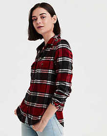 American Eagle AE Plaid Shirt Jacket