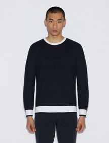 Armani PULLOVER WITH CONTRASTING EDGES