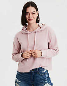 American Eagle AE Ahhmazingly Soft Raw Edge Hoodie