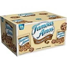 Famous Amos Cookies, Chocolate Chip, 2 Oz., 36/Car