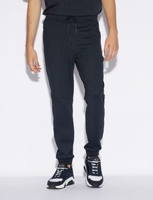 Armani SPORTY TROUSERS WITH PINSTRIPED INSERT