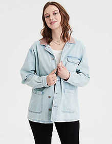 American Eagle AE Denim Chore Coat