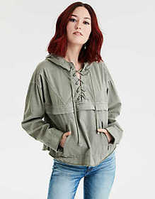 American Eagle AE Lace Up Popover Jacket