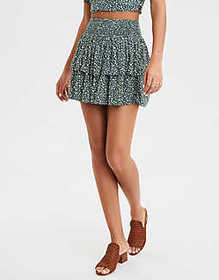 American Eagle AE High-Waisted Floral Mini Skirt