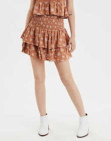 American Eagle AE High-Waisted Tiered Ruffle Mini