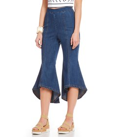 Sugarlips Kick Flare Cropped Denim Jeans