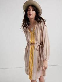 Lucky Brand Yarn Dyed Peasant Dress