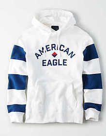 American Eagle AE Color Block Fleece Pullover Hood