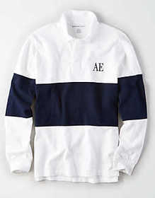 American Eagle AE Long Sleeve Rugby Shirt