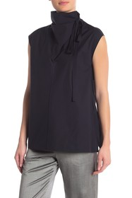 Theory Funnel Neck Tie Top