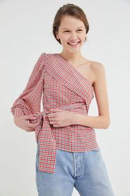 C/meo Collective Counting All One-Shoulder Wrap To