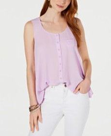 Style & Co Swing Sleeveless Blouse, Created for Ma