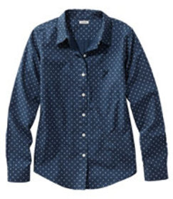 LL Bean Wrinkle-Free Pinpoint Oxford Shirt, Relaxe