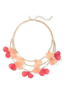 Goldtone Petal-Accent Statement Necklace - New Yor