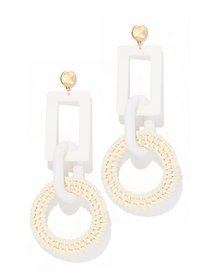 Goldtone Raffia Drop Earring - New York & Company