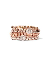 Rose Goldtone 4-Row Stretch Bracelet - New York &