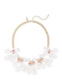 Goldtone Floral Statement Necklace - New York & Co