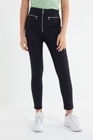 UO Susie High-Rise Cropped Zip-Front Pant