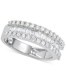 Diamond Baguette Cluster Band (1 ct. t.w.) in 14k