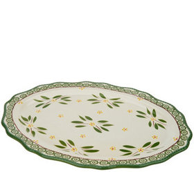 """""""As Is"""" Temp-tations Old World 20"""" Oval Platter -"""