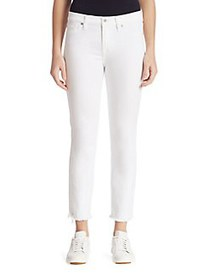 7 For All Mankind Roxanne Frayed Cigarette Jeans W