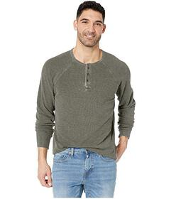 Lucky Brand Burnout Thermal Color Block Tee
