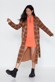 Nasty Gal Plaid You Could Drop By Patent Trench Co
