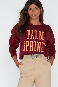 Nasty Gal Palm Springs Cropped Graphic Sweater
