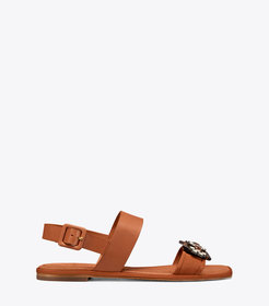 Tory Burch DELANEY EMBELLISHED FLAT SANDAL
