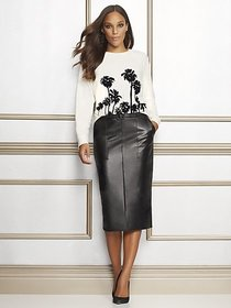 Petite Black Glenda Pencil Skirt - Eva Mendes Coll