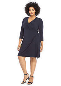 The Limited Plus Size Elbow Sleeve Wrap Dress