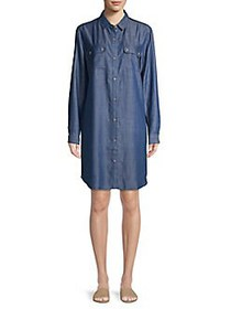 Lord & Taylor Jorda Medium-Wash Shirtdress MEDIUM
