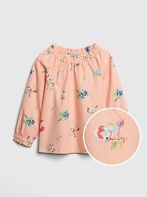 Toddler Floral Ruffle Top