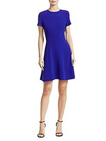 Theory Modern Seamed Fit-and-Flare Dress COSMIC BL
