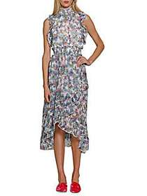 Walter Baker Tropical Marcella Dress BLUE MULTI