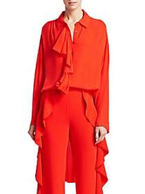 Elizabeth and James Rosalie High-Low Ruffle Blouse
