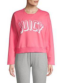 Juicy Couture Graphic Heathered Pullover CAMELIA R