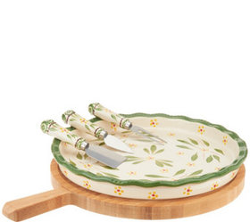 """As Is"" Temp-tations Old World 5-Piece Cheeseboard"