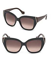 Tom Ford Marcolin 57MM Oversize Geometric Sunglass