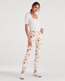 7 For All Mankind Ankle Skinny in Bow Blossoms