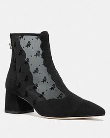 Coach skyler ankle bootie with tea rose mesh