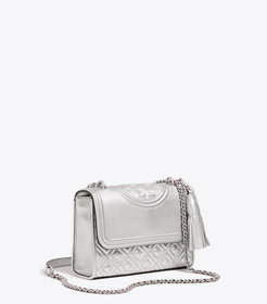Tory Burch FLEMING METALLIC SMALL CONVERTIBLE SHOU