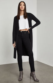 BCBG Ribbed Knit Long Cardigan